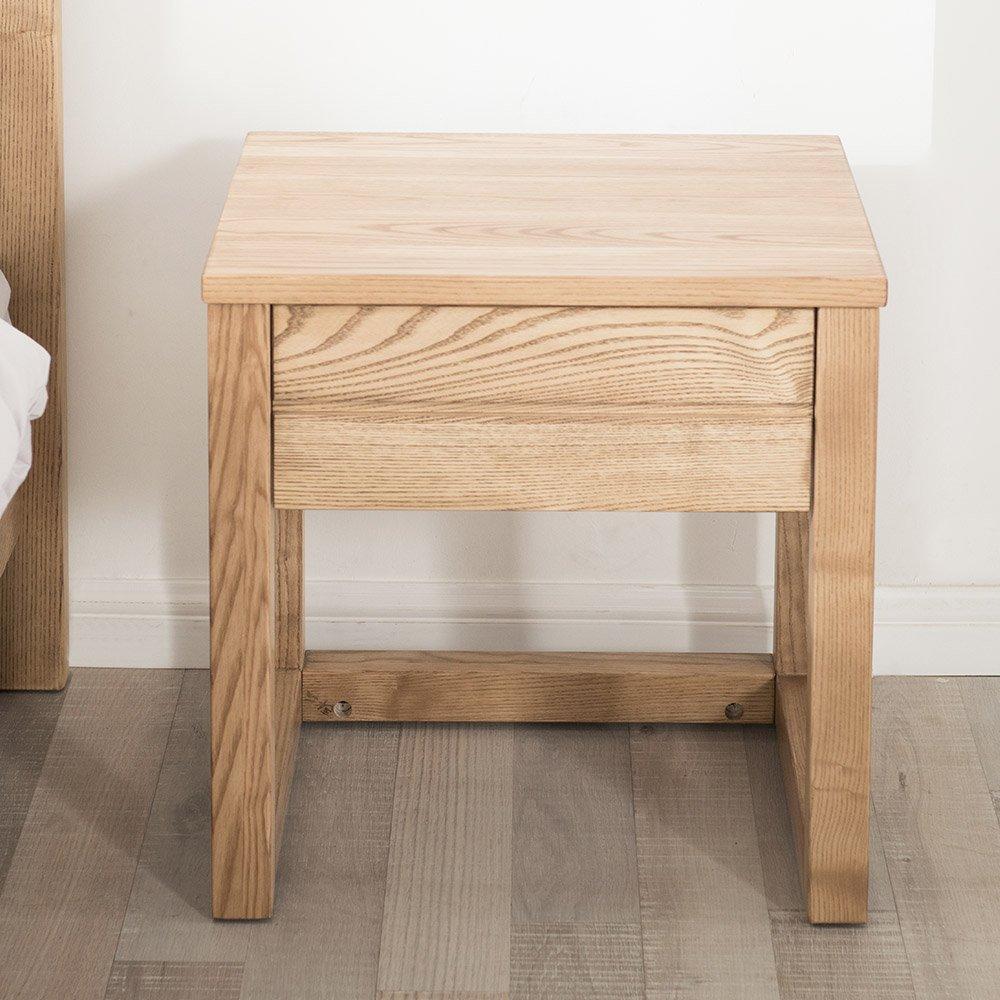 木头公园 纯实木床头柜 现代简约框架结构抽屉柜 水曲柳/白蜡木实木