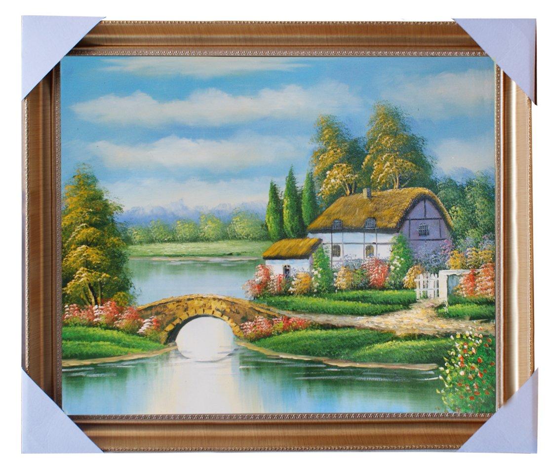 eapey 一品廊 手绘油画 田园风景油画 《天高云阔》
