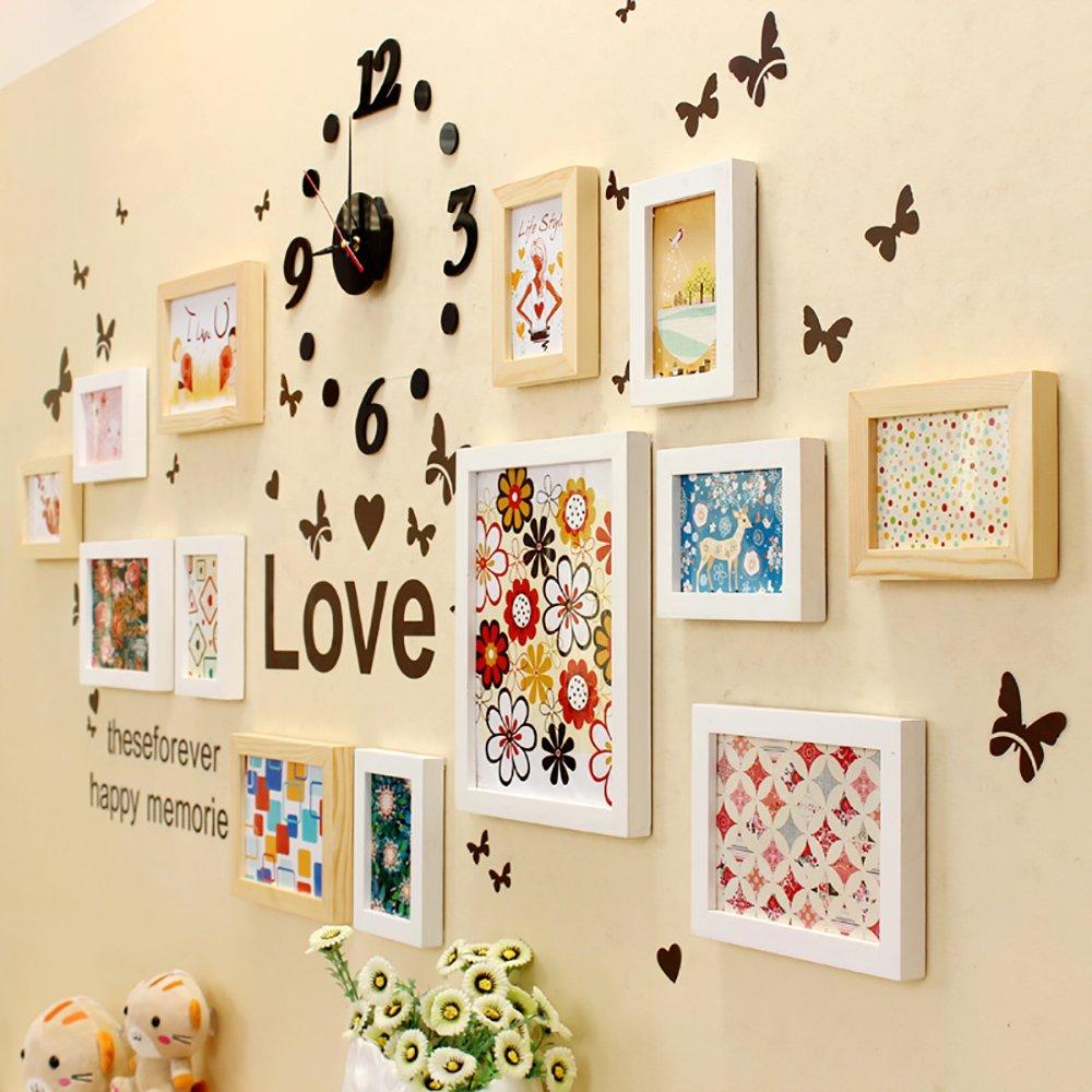 馨慕 钟表款 【精美轮廓 完美线条】 全实木相框创意照片墙 简约大气图片