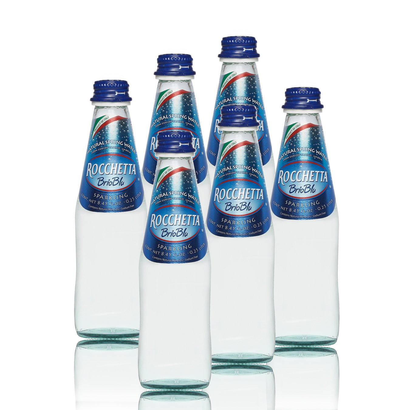 天然 矿泉水 (含气)250毫升 * 6/箱 (意大利 进口矿泉水 玻璃瓶)