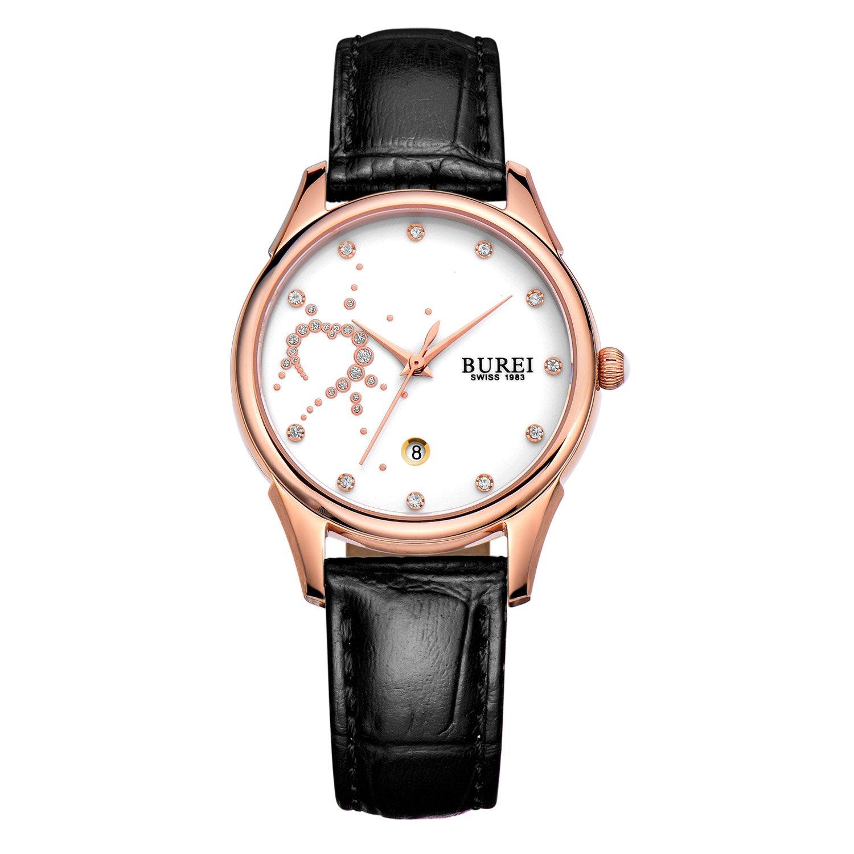 瑞士宝梭2014新款防水真皮带手表女士 中学生时尚潮流