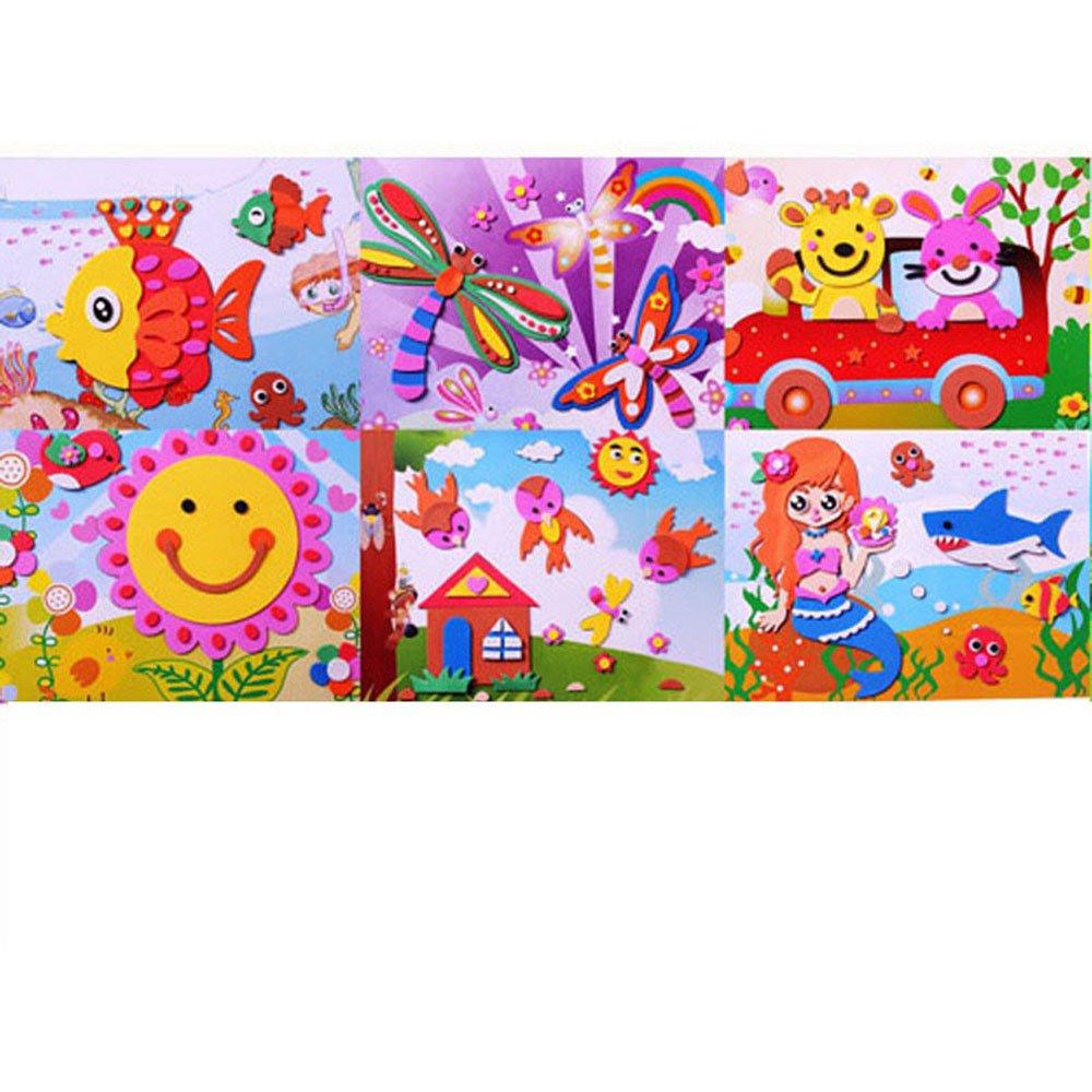 eva手工制作立体贴画 儿童diy贴画创意粘贴3d立体艺术