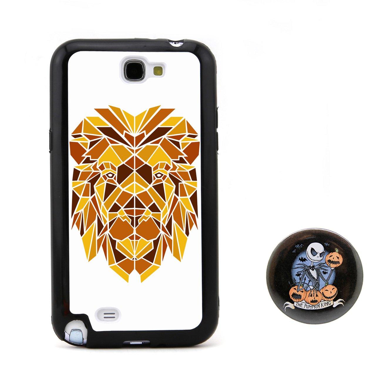 狮子3d多边形动物头像浮雕设计风格 塑料 tpu手机壳 手机套 适用于