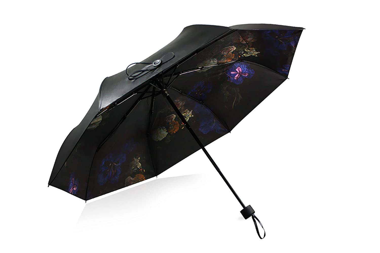 blacklemon designer黑柠檬双层时尚遮阳伞小黑伞防紫外线太阳伞超强