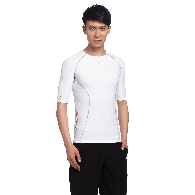 skins 思金斯 专业竞技系列 男子 短袖上装¥214,李宁版