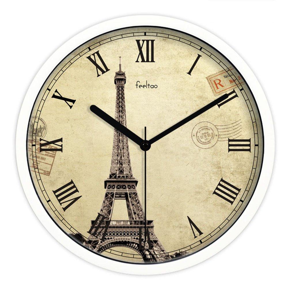 feeltao 飞淘 新品 复古欧式钟表 创意客厅田园风挂钟图片