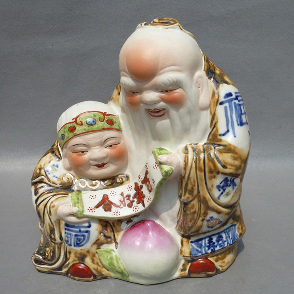 御豪 景德镇瓷器摆件雕塑瓷百年好合陈凌明工艺家居饰品摆件