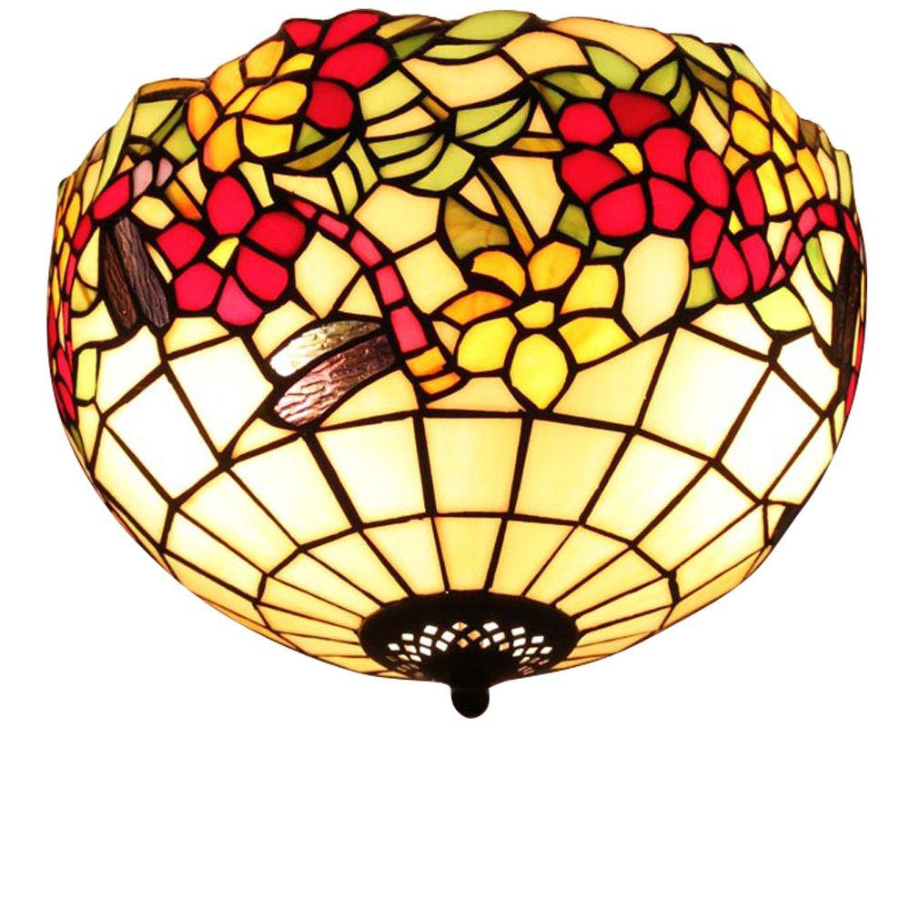 宜轩灯饰tiffanylamp欧式经典蒂凡尼灯具30cm吸顶灯