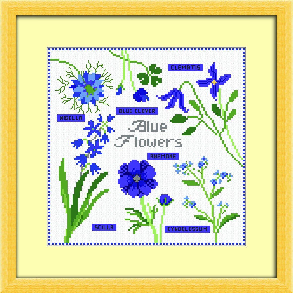 多美绣 十字绣 花卉-蓝色小花 14ct
