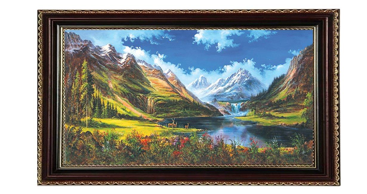 visafety 维众泰 大尺寸中式风景油画装饰画玄关 客厅卧室 办公室