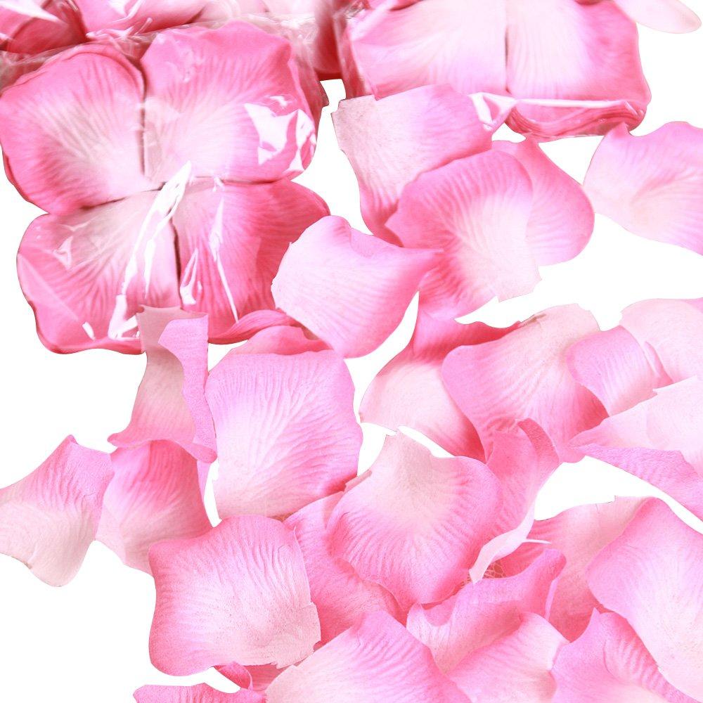 沐馨 婚庆用品 婚床撒花 粉色玫瑰花瓣 5包装