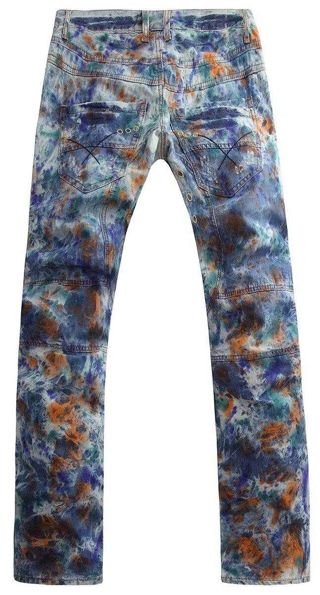 颜料手绘裤子图片