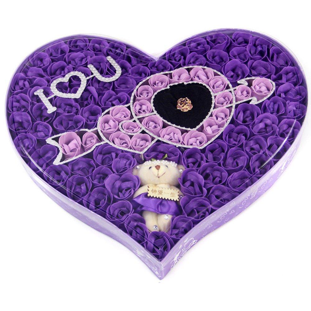携爱 创意生日送女友女朋友老妈妈女生女孩实用新奇浪漫皂花玫瑰花