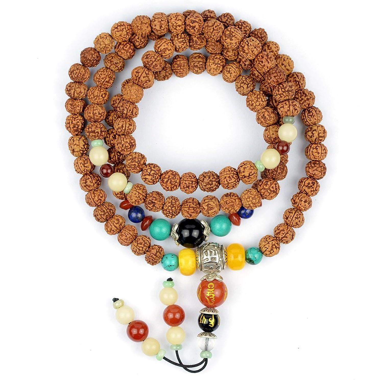 随石随玉 藏式·108颗金刚菩提佛珠 原籽 单珠直径约1图片
