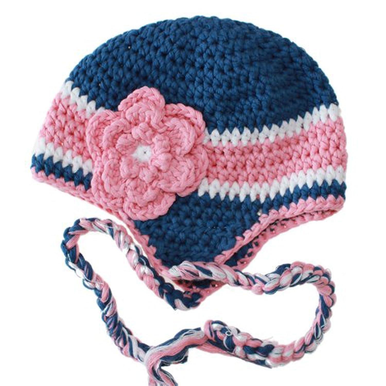欧美风全棉时尚手工婴儿编织帽子 手钩婴儿童帽子 小孩宝宝婴儿秋冬季