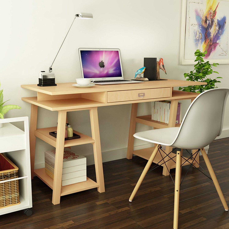 择木宜居 现代简约电脑桌组合书桌 台式电脑台子办公桌写字台(不含