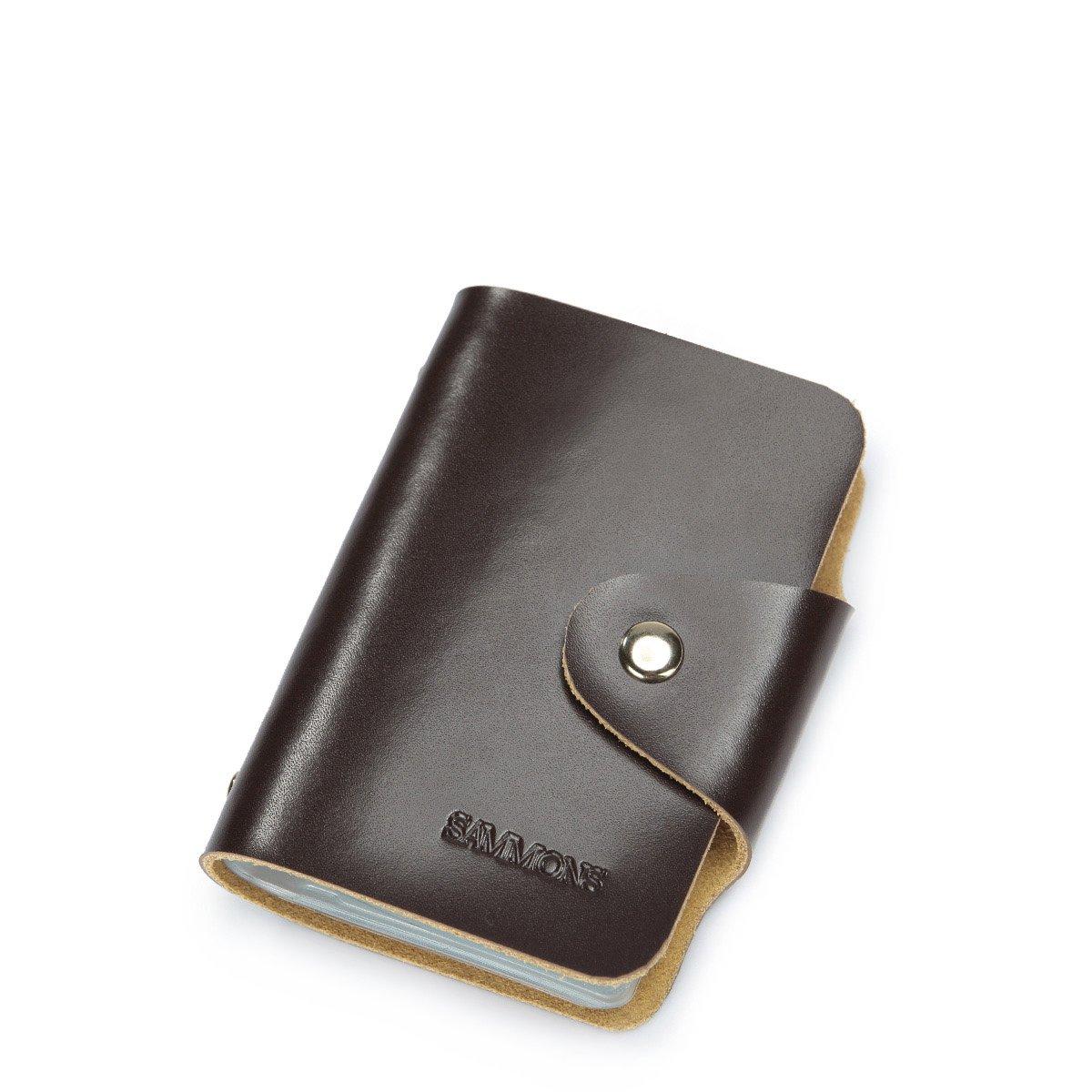 sammons 萨蒙斯 x战警系列牛皮男士证件包真皮商务便携大容量潮银行卡
