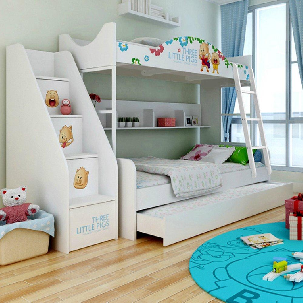 儿童双层床儿童床子母床高低床上下床男孩儿童房儿童