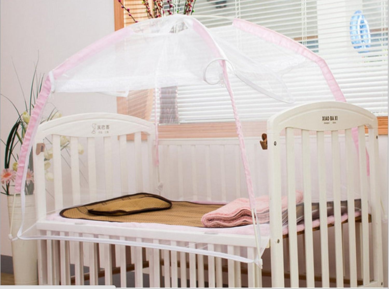 星光家纺 折叠式婴儿蚊帐 宝宝蚊帐 婴儿床蚊帐 蒙古包儿童蚊帐 (粉色