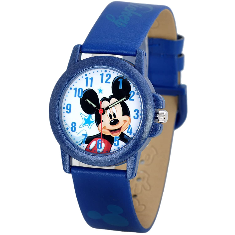 disney 迪士尼儿童手表 可爱蓝色米奇夜光小女孩学生手表 皮带 73204