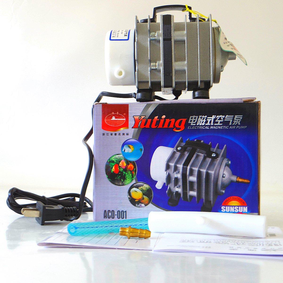 森森鱼亭大功率鱼缸鱼池电磁式空气泵氧气泵充氧泵增氧泵aco001用于