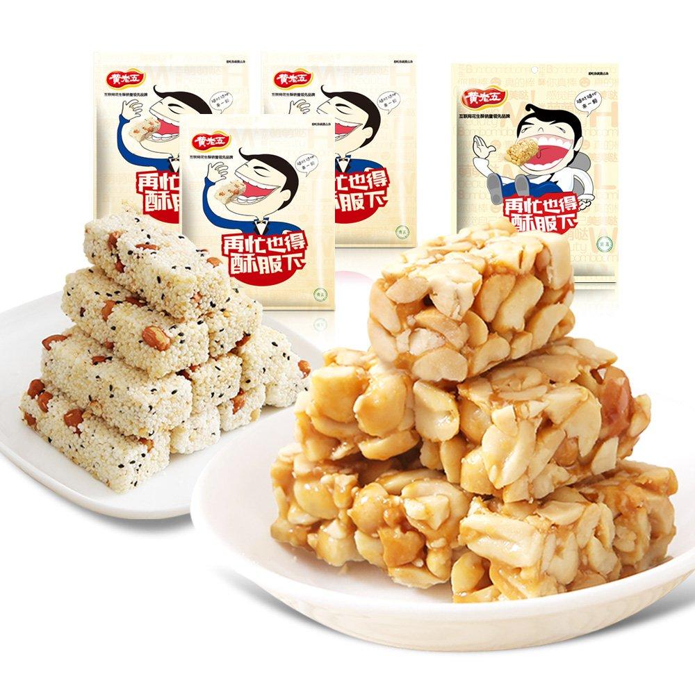 黄老五 花生酥原味 实惠4袋组合 特产 零食糕点942g 甜味