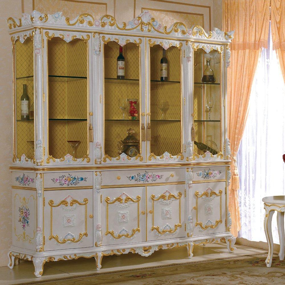 浪漫古典家具 意大利风格 欧式古典 经典热卖手工雕刻实木柜 1210酒柜