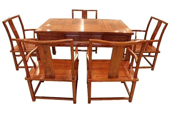 龙上龙 红木实木花梨木汉宫功夫茶台茶桌餐桌两用 茶艺桌