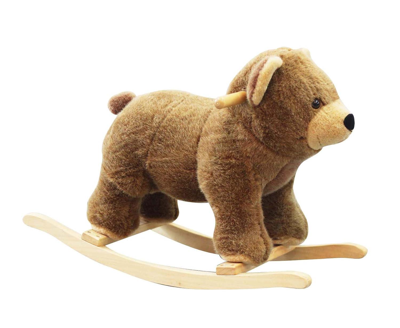 蓝色城堡 小木马玩具 可爱小棕熊bc7-017 棕色/儿童毛绒玩具 /儿童
