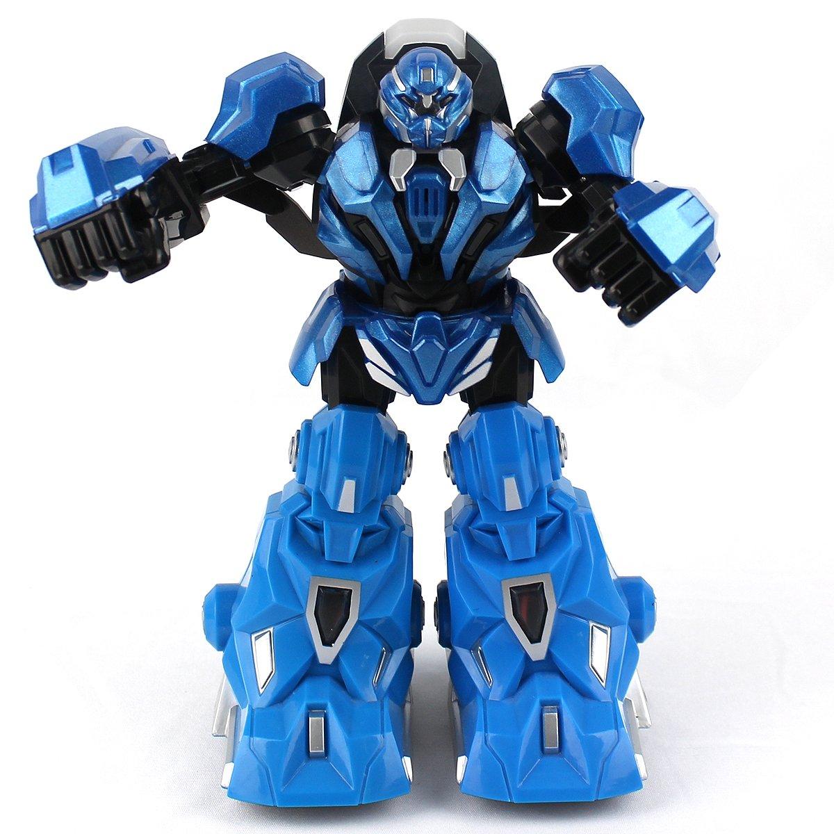 4g体感遥控格斗对打对战拳击机器人玩具变形金刚(蓝色)