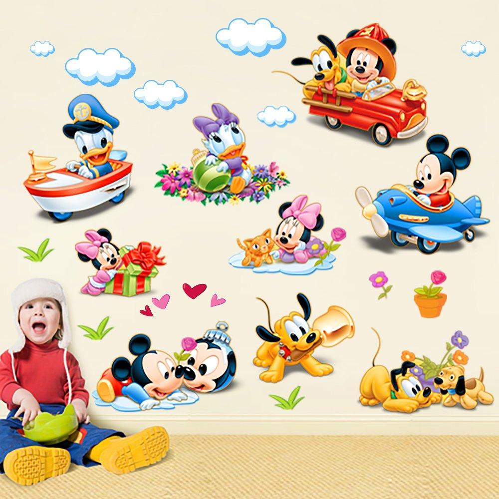 飞彩迪士尼墙贴纸 儿童房装饰卧室幼儿园教室布置贴画纸米奇乐园