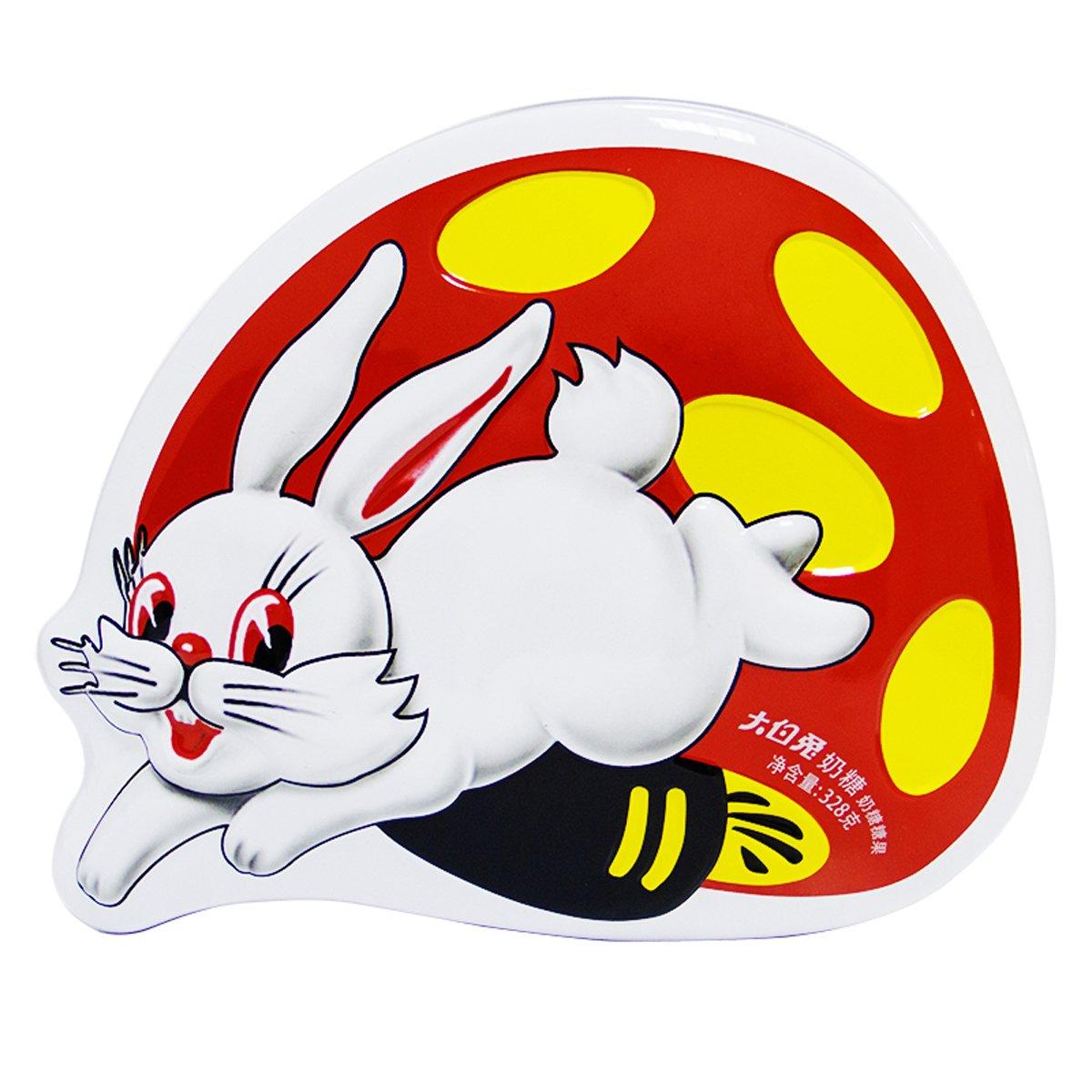 大白兔奶糖(蘑菇兔礼盒装)328g图片