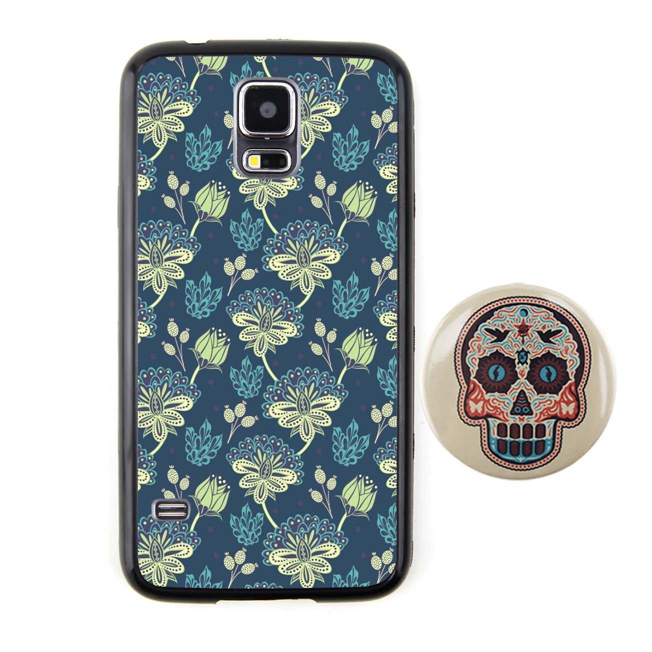 花朵/深蓝 密集图案浮雕设计风格 塑料 tpu手机壳 手机套 适用于