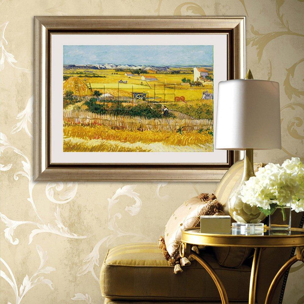 山迪 客厅装饰画欧式有框画餐厅壁画挂画 梵高仿油画