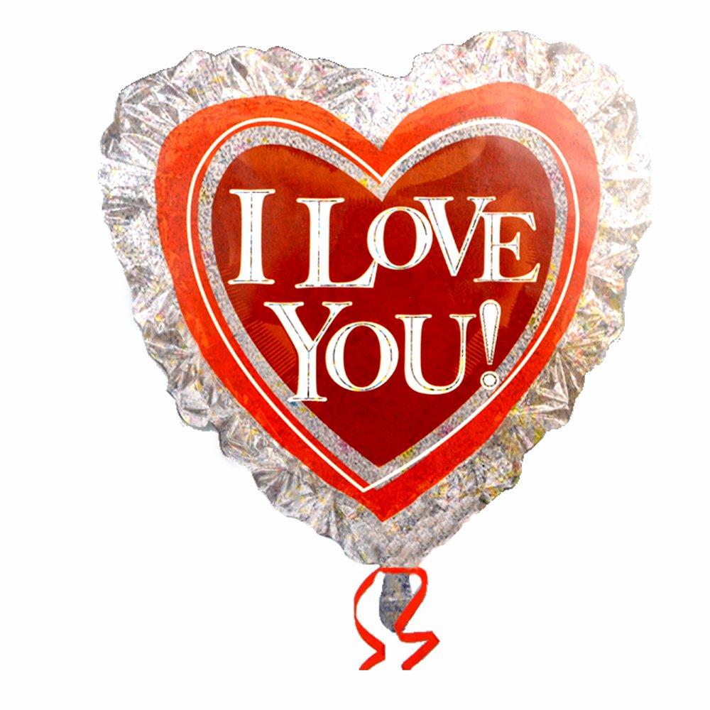 anagram 71cm心形iloveyou婚庆爱心铝膜气球 20820图片