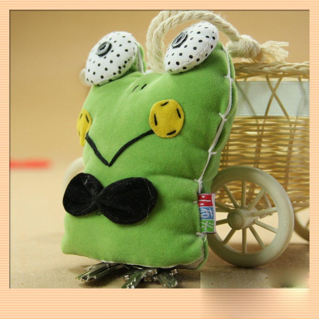 小布头 纯手工制作布艺成品 青蛙钥匙包