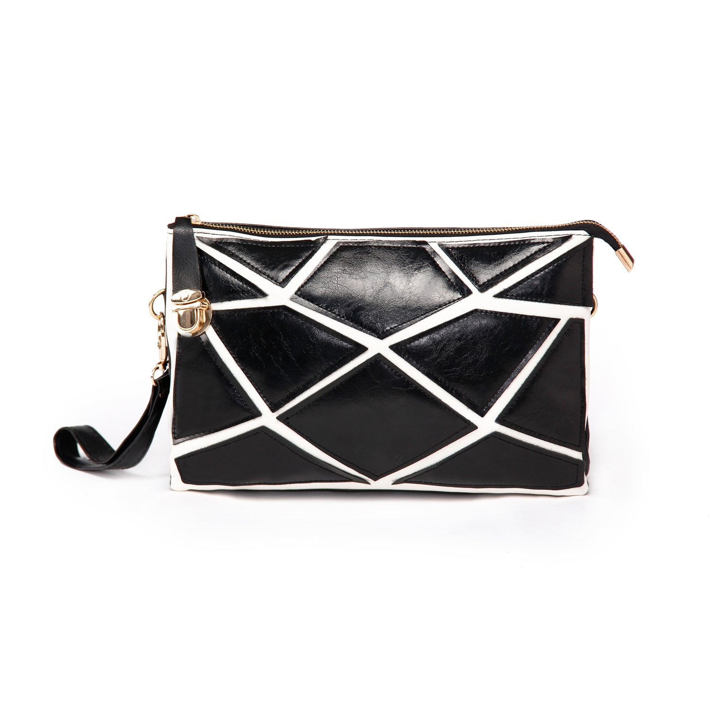 欧美时尚个性黑白包包2013新款拼接