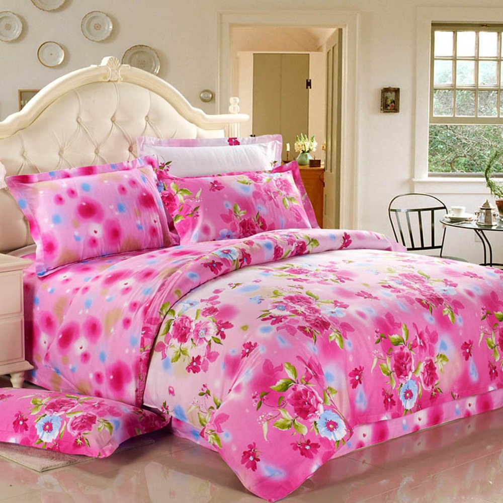 晶丽莱 家纺 全棉四件套 斜纹床上用品 床单被套纯棉4图片