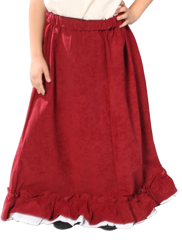 Rennaissance Girl Peasant Skirt 酒红色 大 - 玩具-海外购 美亚直邮