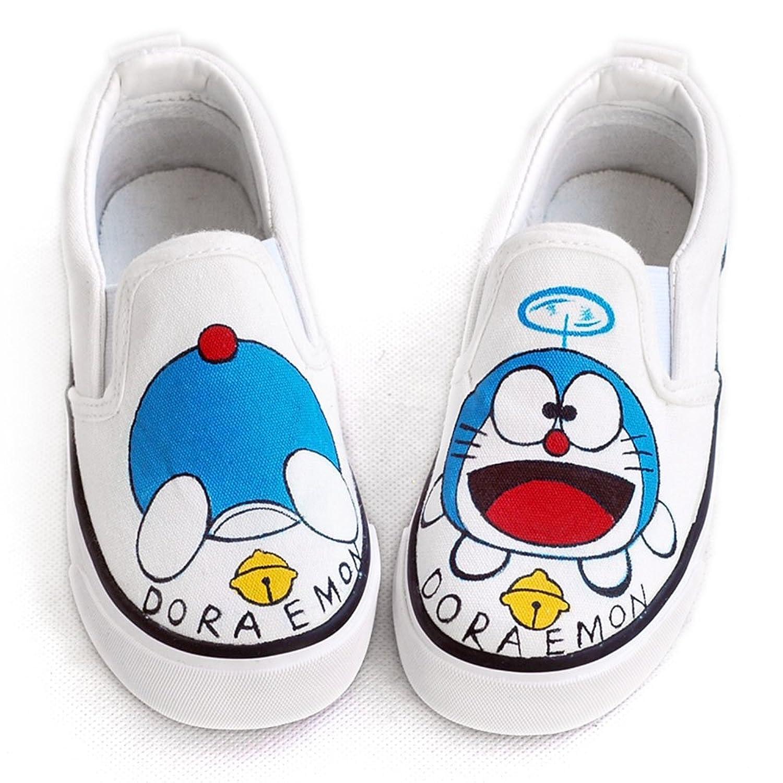卜丁 套脚手绘鞋 儿童涂鸦鞋 可爱宝宝鞋 一脚蹬 潮鞋帆布鞋 手绘童鞋
