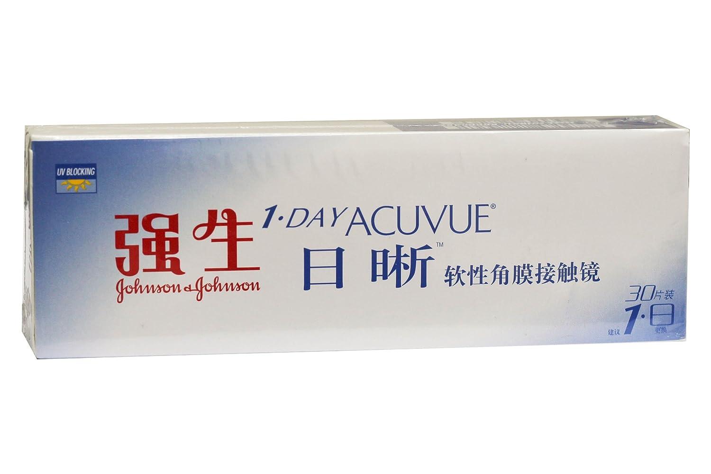 强生 安视优 日晰隐形眼镜(日抛型)30片装/盒 -3.75d