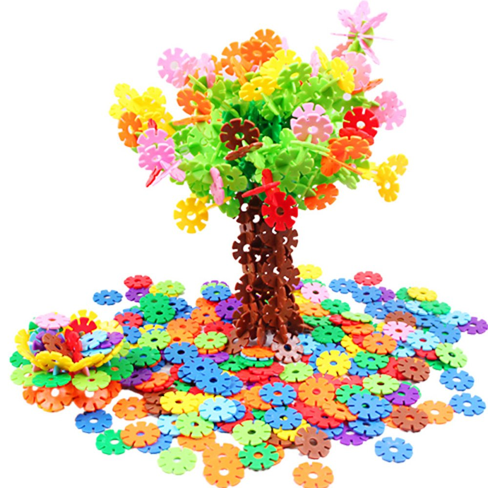 丸子宝贝 六一儿童节玩具雪花片塑料积木拼插拼装乐高