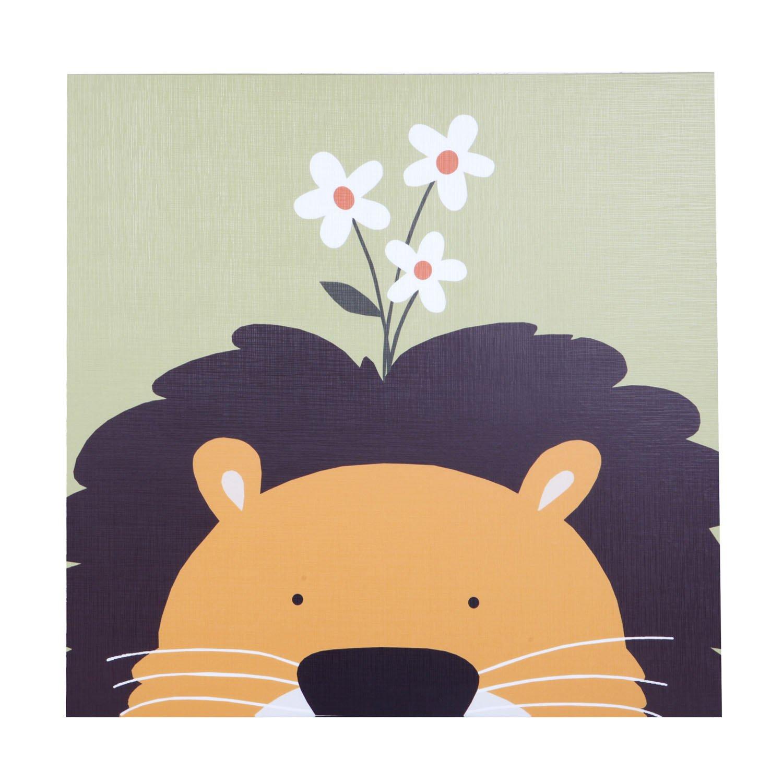 新视觉无框画 装饰画 工艺画 家具摆设《动物系列-狮子》50*50cm yh-x