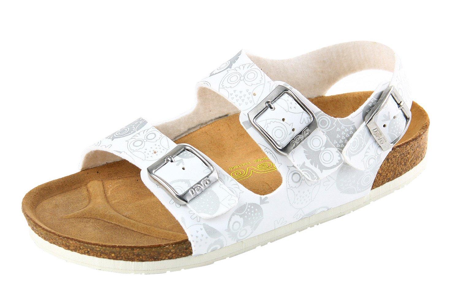 软木鞋舒适勃肯鞋休闲凉鞋女印花沙滩鞋平