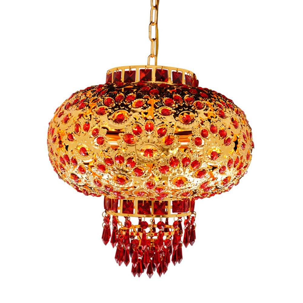 shopp 中式红阳台传统喜庆水晶灯笼新春节日祝福吊灯360旋转 直径400图片