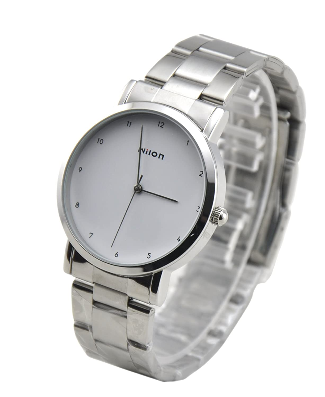 wilon 威龙 至尊系列石英男士手表 银色不锈钢金属表带 906g