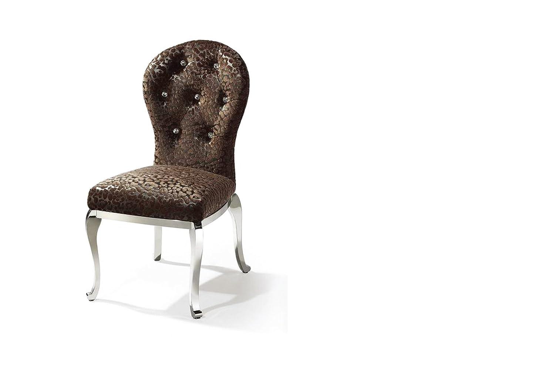 菲力雅cy-9112(啡色)不锈钢欧式餐椅 2把套装