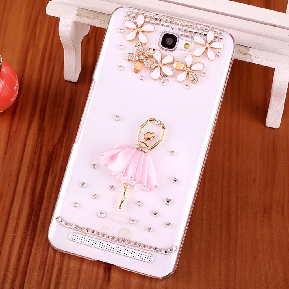 tcl s720t手机壳 么么哒手机保护套s725t孔雀水钻透明外壳 s720t 粉色