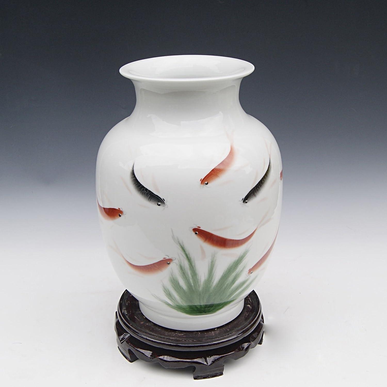 hy 恒焱 景德镇陶瓷 手绘陶瓷花瓶 买就送 名人名作 工艺摆设 花插 hp