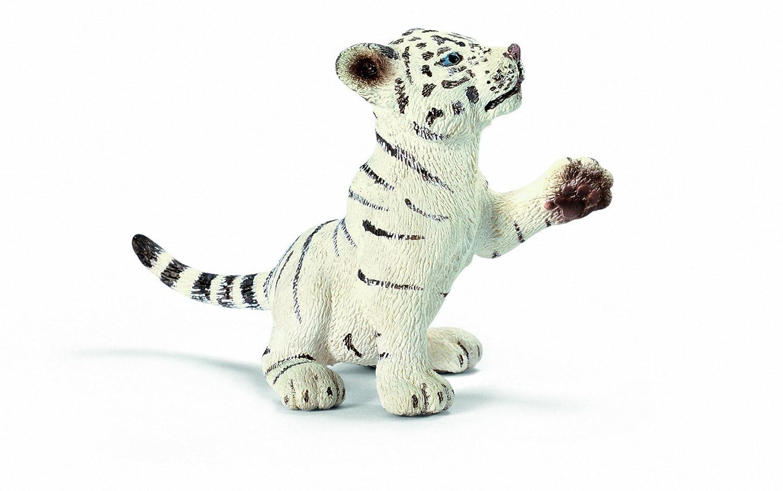 schleich 思乐 动物模型 仿真收藏 儿童玩具 幼虎,白色,玩耍状14385